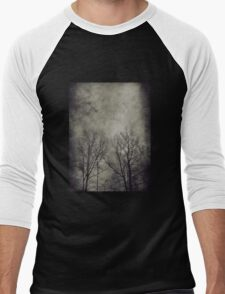 Dark trees 2 Men's Baseball ¾ T-Shirt