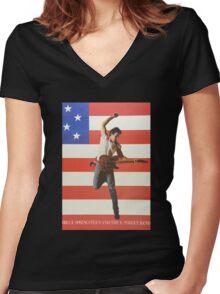 Bruce3 Women's Fitted V-Neck T-Shirt