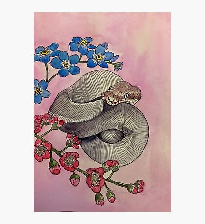 Snake Flowers Photographic Print