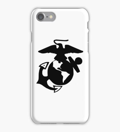 United States Marine Corps, USMC, Eagle, Anchor, Globe, EGA, Logo, PNG iPhone Case/Skin