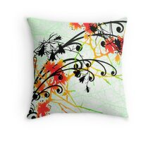 Slice of Spice Floral Bouquet Print Throw Pillow