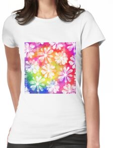 Floral Colour Womens Fitted T-Shirt
