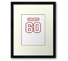 NFL Player Craig Roh sixty 60 Framed Print