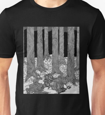 Girl sleeping in a forest  Unisex T-Shirt