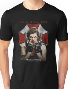 Resident Evil The Final Chapter evil will end Unisex T-Shirt