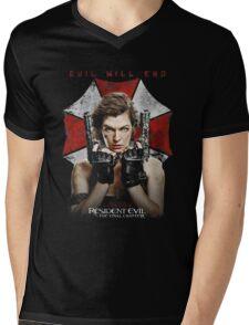 Resident Evil The Final Chapter evil will end Mens V-Neck T-Shirt