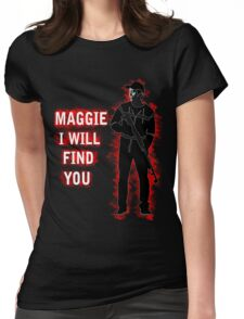 Maggie I Will Find You by Glenn Womens Fitted T-Shirt
