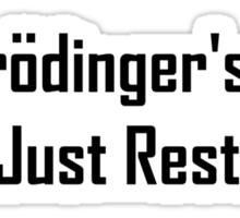 Schrodinger's Cat Is Just Restin'  Sticker
