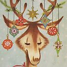 Vintage Christmas Card #3 by Tracy Faught