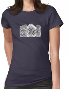 Camera Doodle  Womens Fitted T-Shirt