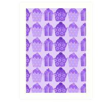 Purple Cakes Art Print
