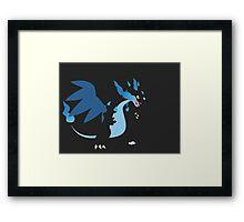 Mega Charizard X Framed Print