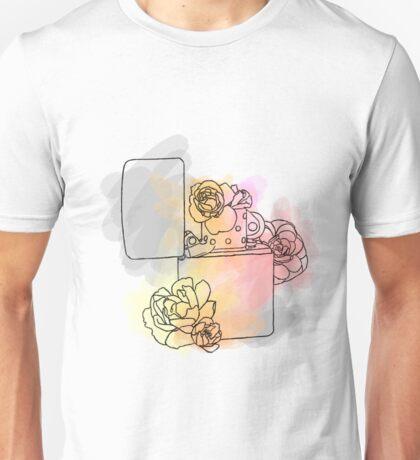 Lighter and Flowers Unisex T-Shirt