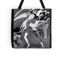 Woman with a flag II (Ships) Tote Bag