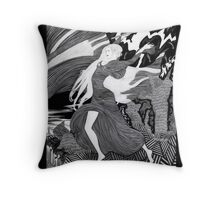 Woman with a flag II (Ships) Throw Pillow