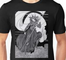 Woman with a flag  Unisex T-Shirt