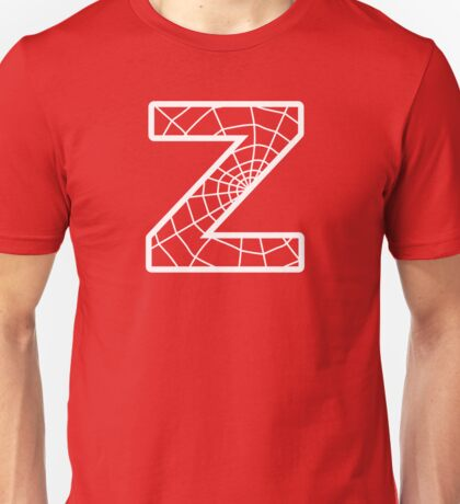 Spiderman Z letter Unisex T-Shirt