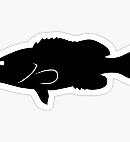 Gag Grouper Fish Silhouette (Black) Sticker