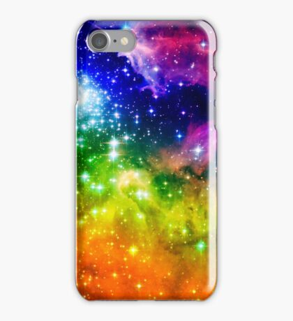 Classic Colors Rainbow Ombre Tinted Stars iPhone Case/Skin