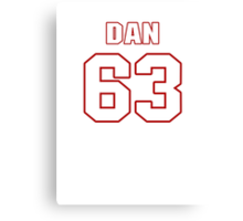 NFL Player Dan Connolly sixtythree 63 Canvas Print
