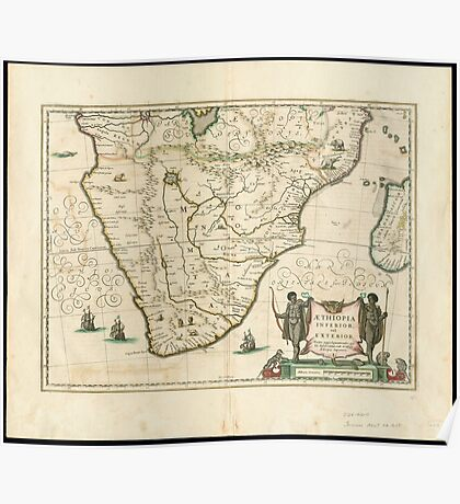 Southern Africa 1640 Poster