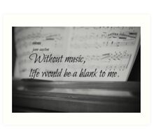 Jane Austen Music Art Print