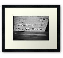 Jane Austen Music Framed Print