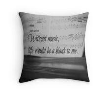 Jane Austen Music Throw Pillow