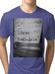 Jane Austen Music Tri-blend T-Shirt