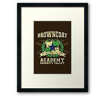 Browncoat Academy Framed Print