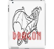 Comic Cartoon Dragon Design iPad Case/Skin