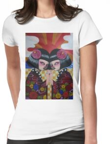 Japanese Twins Womens Fitted T-Shirt