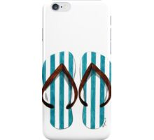 Stripey flip-flops iPhone Case/Skin