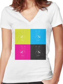 Peace Out Women's Fitted V-Neck T-Shirt