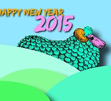 Landscape Sheep #1 - Chinese New Year 2015 by PBdesigns