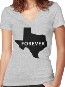 state of texas Women's Fitted V-Neck T-Shirt