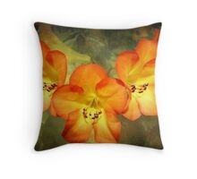 Three Hawaiian Beauties Throw Pillow