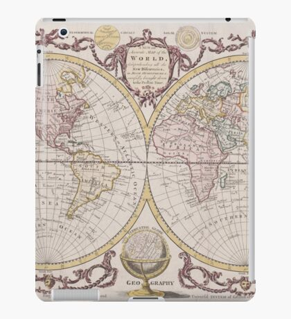 World Map 1782 iPad Case/Skin