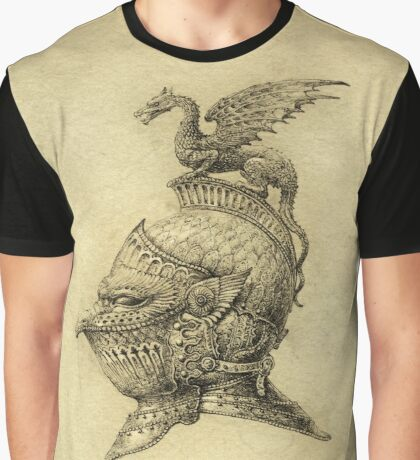 Knight Fantasy Grunge Graphic T-Shirt