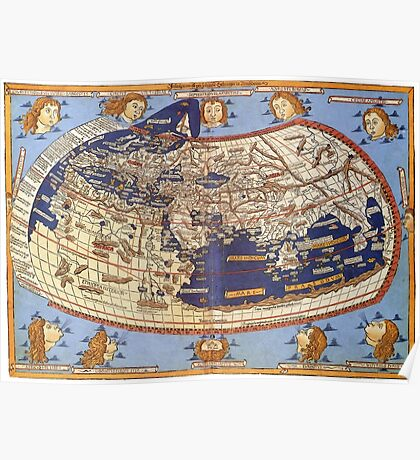 World Map 1482 Poster