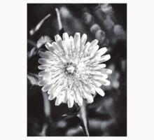 ©NS Tiny Monochrome Flower IIIA. Baby Tee