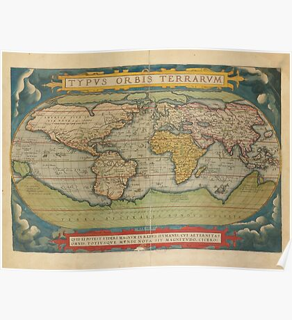 World Map 1570 Poster