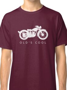 Old's Cool - Vintage Motorcycle Silhouette (White) Classic T-Shirt