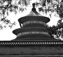 Temple in B/W by lele8907