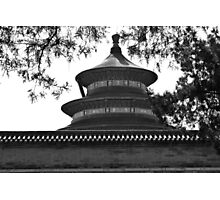Temple in B/W Photographic Print