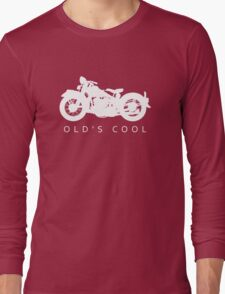 Old's Cool - Vintage Motorcycle Silhouette (White) Long Sleeve T-Shirt
