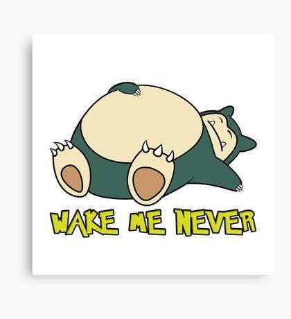 Snorlax - Wake Me Never Canvas Print
