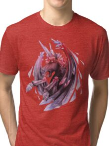 Watercolor crystallizing demonic horse Tri-blend T-Shirt