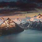Moonrise over Panorama Ridge by bonsta