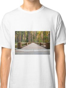 Foot Bridge in the Forest  Classic T-Shirt